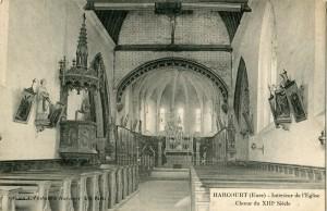 Interieur eglise Harcourt 1911 compressée